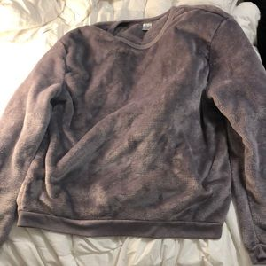 Light purple fuzzy sweater in size XL